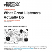 HBR What Great Listeners Actually Do